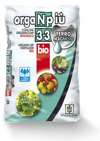 ORGANPIU' 3-3 FERRO ORGANAZOTO DA 25 KG
